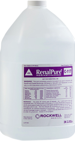 RenalPure and Dri-Sate Acid Concentrates